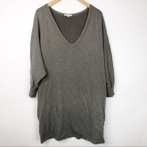 James Perse Comfy Casual Sweatshirt Tunic Dress